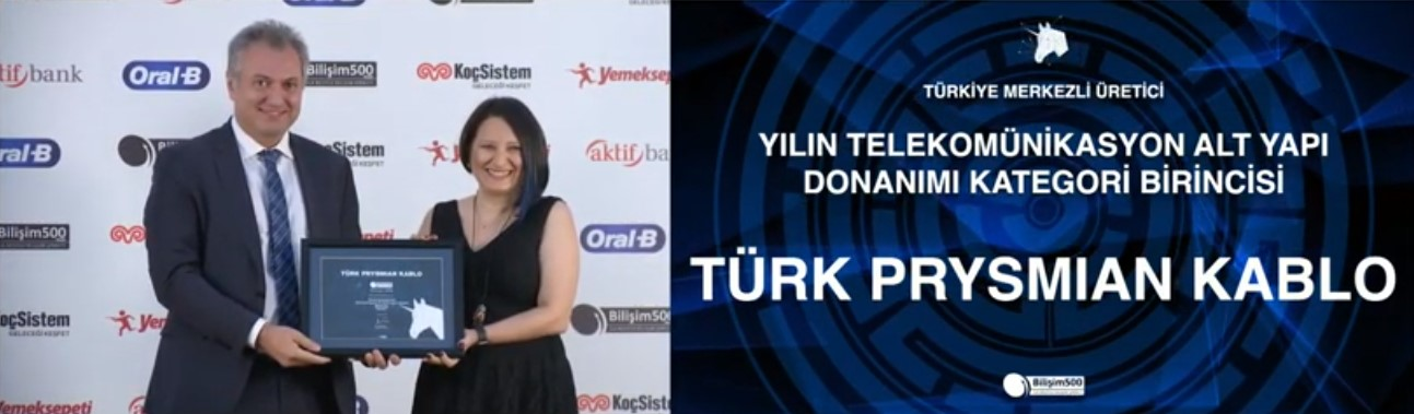 Türk Prysmian Kablo, Telekomünikasyon Alt Yapı Donanımı Kategori Birincisi Ödülü'nü kazandı